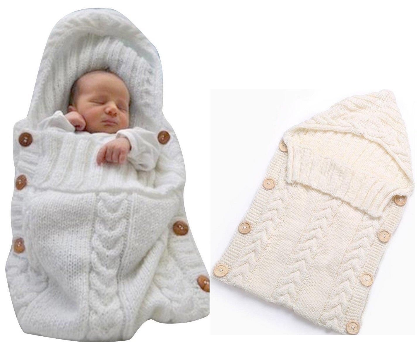 f44d89e6 Sovepose-baby-strikket-hvit-1 - handel123.no
